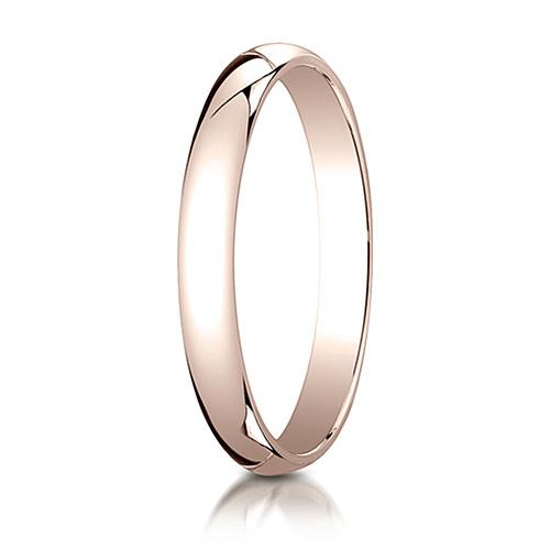 3mm 14kt Rose Gold Oval Wedding Band