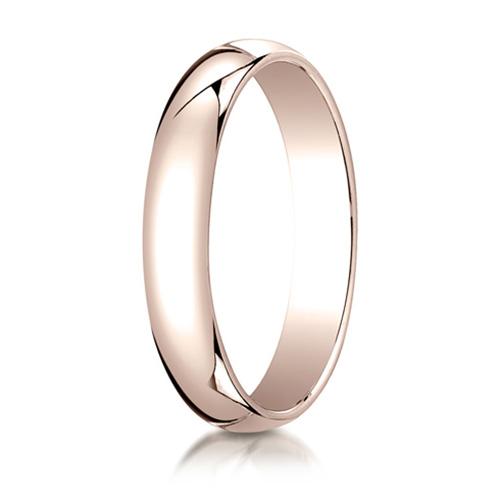 14kt Rose Gold 4mm Oval Wedding Band