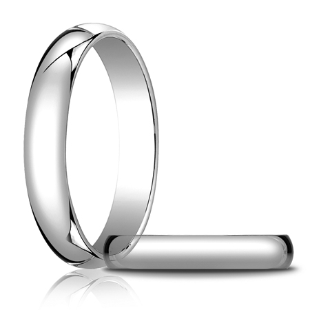 14kt White Gold 4mm Oval Wedding Band