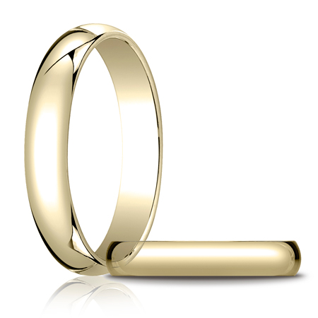 14kt Yellow Gold 4mm Oval Wedding Band