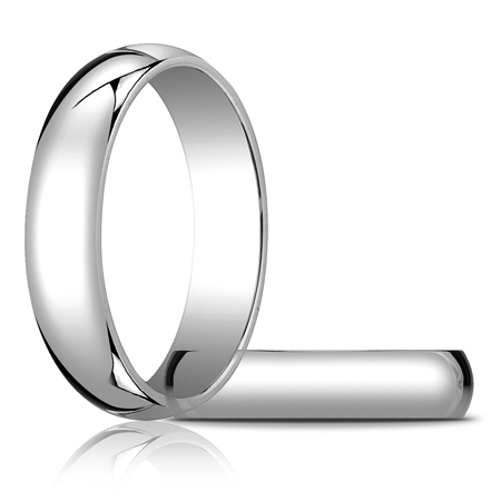 14kt White Gold 5mm Oval Wedding Band