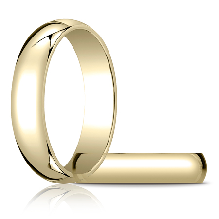 14kt Yellow Gold 5mm Oval Wedding Band