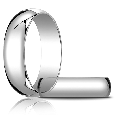 14kt White Gold 6mm Oval Wedding Band