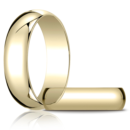 14kt Yellow Gold 6mm Oval Wedding Band