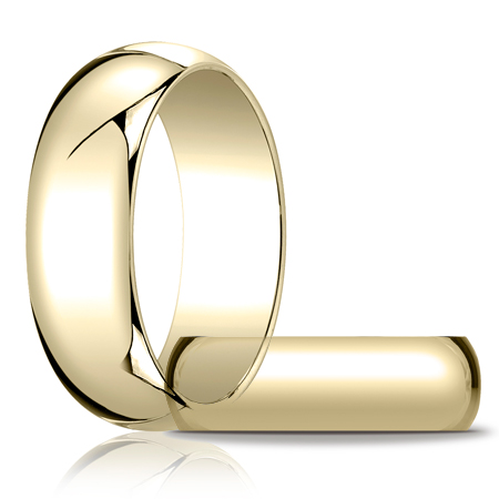 10kt Yellow Gold 7mm Oval Wedding Band