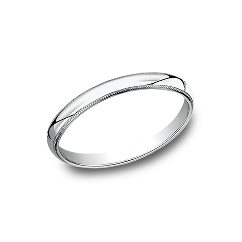 Platinum 2mm Milgrain Wedding Band