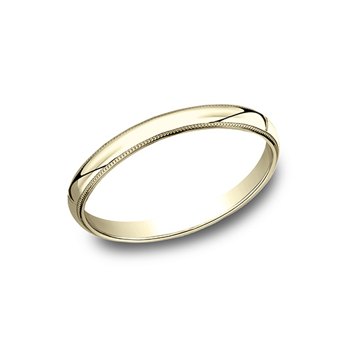 14kt Yellow Gold 2mm Milgrain Wedding Band