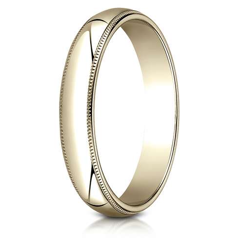 14kt Yellow Gold 4mm Milgrain Wedding Band