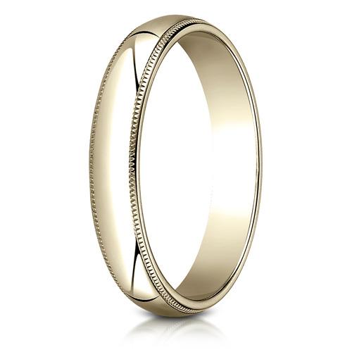10kt Yellow Gold 4mm Milgrain Comfort Fit Wedding Band
