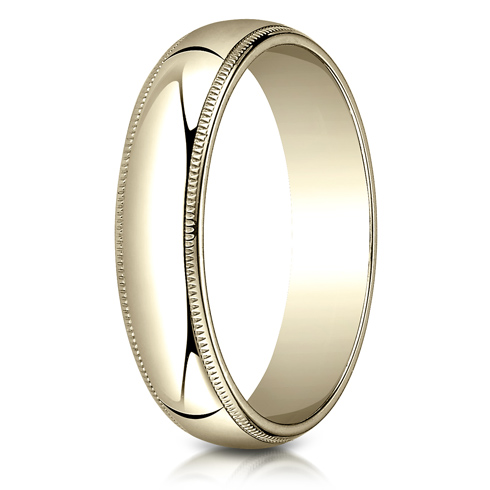 14kt Yellow Gold 5mm Milgrain Wedding Band