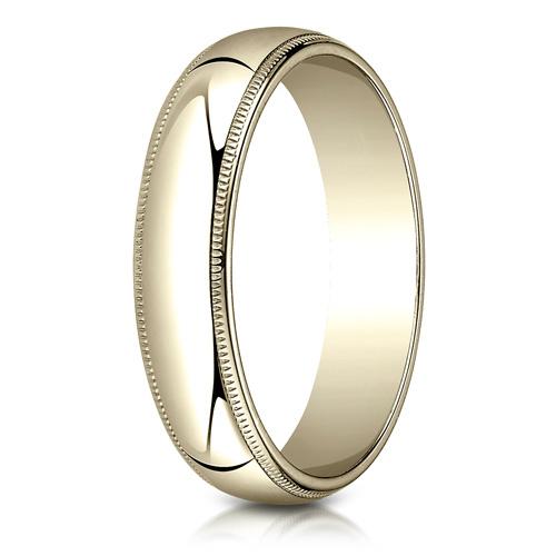 10kt Yellow Gold 5mm Milgrain Comfort Fit Wedding Band