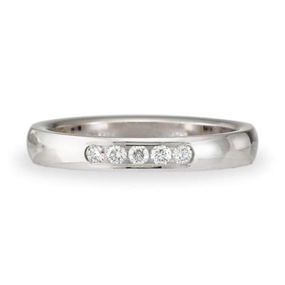 1/10 CT Diamond Band 3mm - 14k White Gold