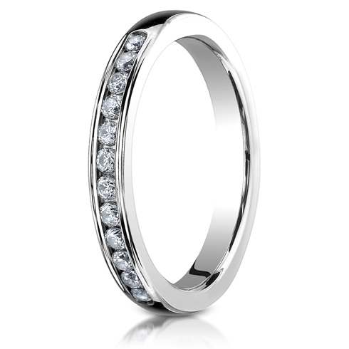 1/4 CT Diamond Band 3mm - 14k White Gold