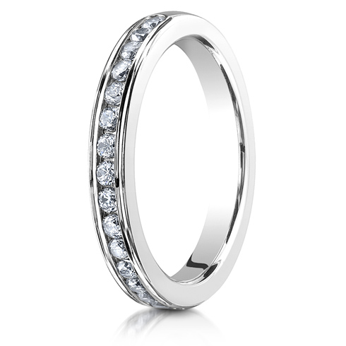 1/3 ct Diamond Channel Set Platinum 3mm Wedding Band