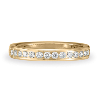 1/3 CT Diamond Band 3mm - 14k Yellow Gold