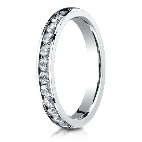 1/2 CT Diamond Band 3mm - 18k White Gold