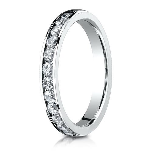 1/2 ct Diamond Platinum 3mm Wedding Band