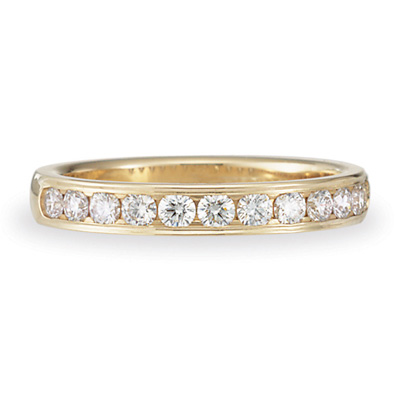 1/2 CT Diamond Band 3mm - 14k Yellow Gold