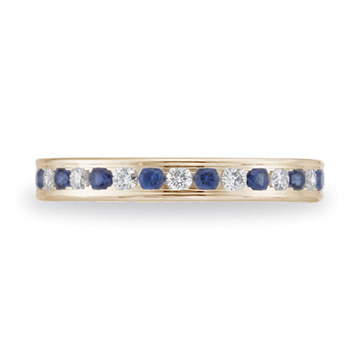 Benchmark 14kt Yellow Gold 3/4 CT Sapphire & Diamond Band