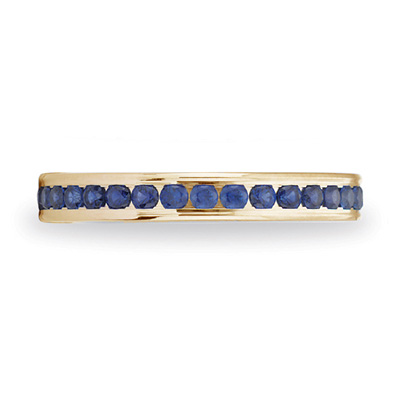 14kt Yellow Gold Benchmark 5/8 CT Sapphire Band 3mm