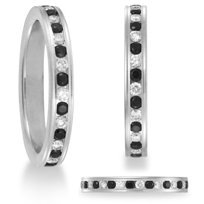 Benchmark 2/3 CT Black Diamond Band 3mm - 14k White Gold