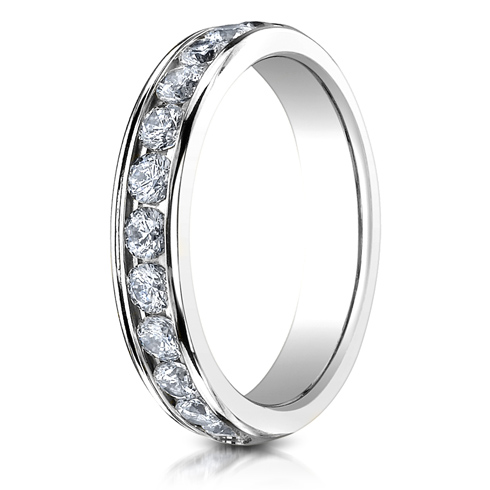 3/4 CT Diamond Band 4mm - 14k White Gold