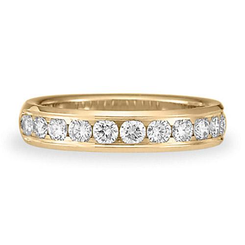 3/4 CT Diamond Band 4mm - 14k Yellow Gold