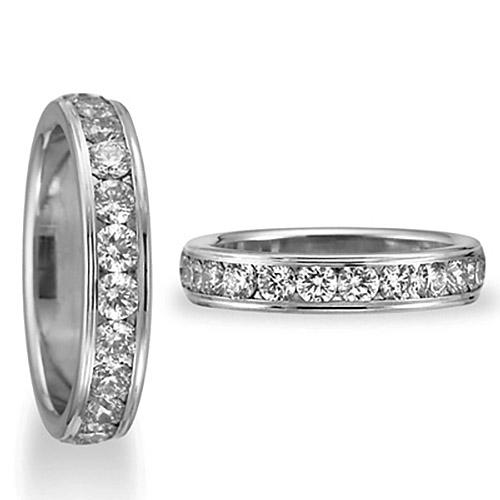 1 ct Diamond Platinum 4mm Wedding Band