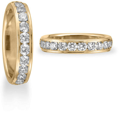 1 CT Diamond Band 4mm - 14k Yellow Gold