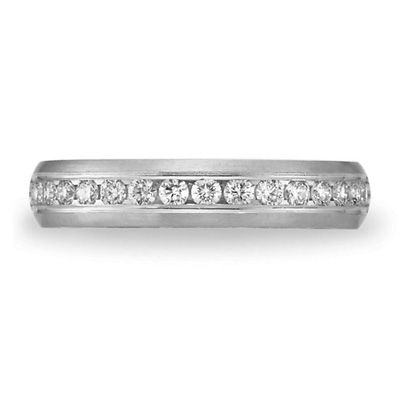 1/3 CT Diamond Band 4mm - 14k White Gold
