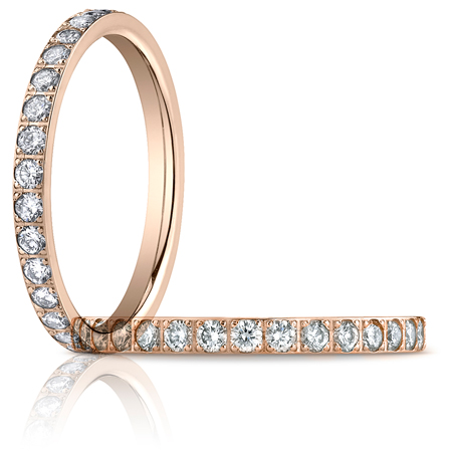 18kt Rose Gold 2/3 ct tw Diamond Eternity Wedding Band