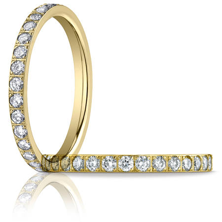 2/3 ct tw Diamond Eternity 2mm Band - 14kt Yellow Gold