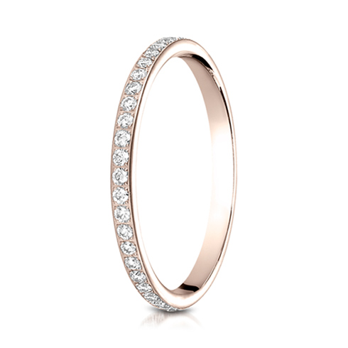14kt Rose Gold 2mm 1/2 ct tw Pave Diamond Eternity Band