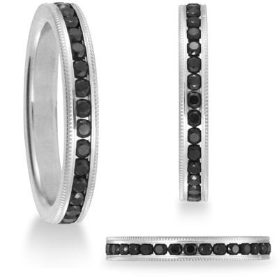 Benchmark 2/3 CT Black Diamond Band 3mm - 14k White Gold