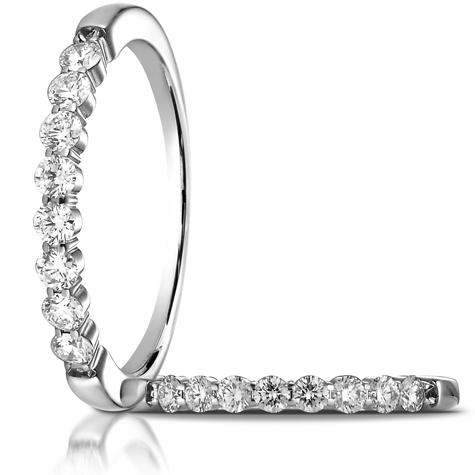 1/3 ct tw Diamond Shared Prong Ring - 14kt White Gold
