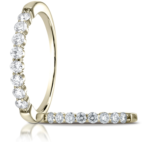 1/3 ct tw Diamond Shared Prong Ring - 14kt Yellow Gold