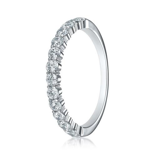 14kt White Gold 1/2 ct tw 12 Stone Diamond Ring