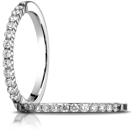 1/4 ct tw Diamond Shared Prong Ring - 14kt White Gold
