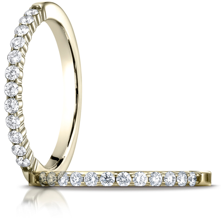 1/4 ct tw Diamond Shared Prong Ring - 14kt Yellow Gold