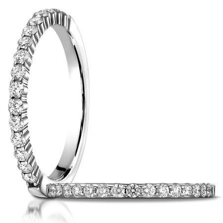 1/3 ct tw Diamond Ring with Shared Prongs - 14kt White Gold