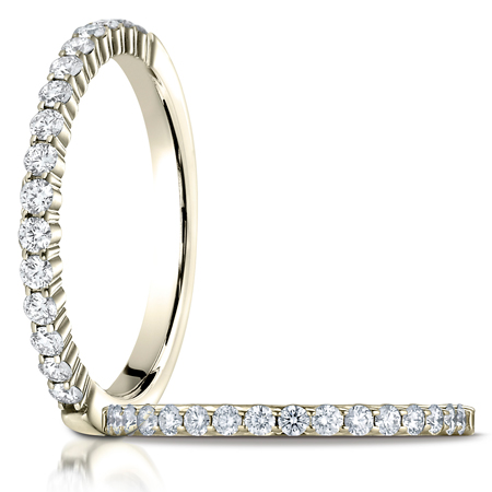 1/3 ct tw Diamond Ring with Shared Prongs - 14kt Yellow Gold
