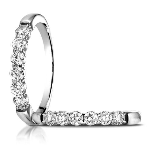 1/2 ct tw Six Stone Diamond Ring - 14kt White Gold