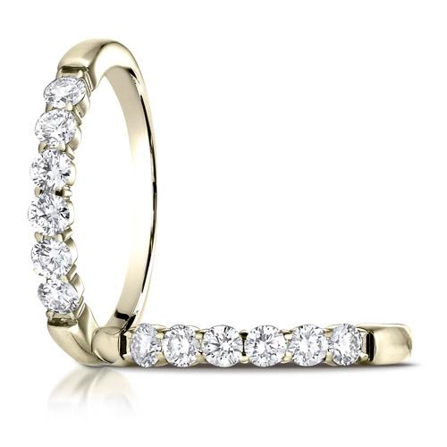 1/2 ct tw Six Stone Diamond Ring - 14kt Yellow Gold