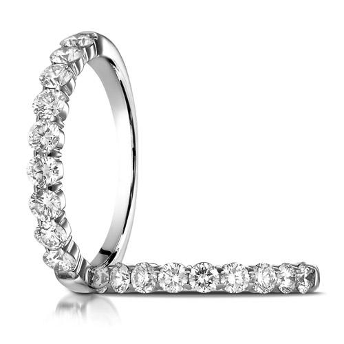 1/2 ct tw Nine Stone Diamond Ring - 14kt White Gold