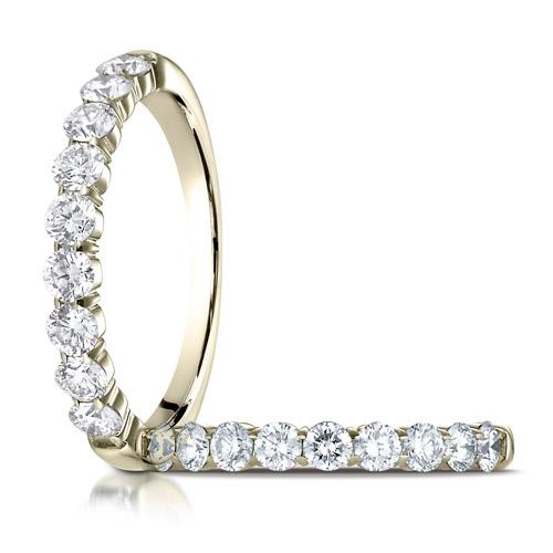 1/2 ct tw Nine Stone Diamond Ring - 14kt Yellow Gold