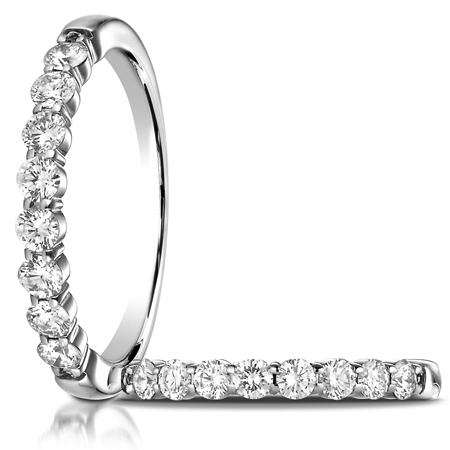 1/2 ct tw Diamond Ring with Shared Prongs - 14kt White Gold
