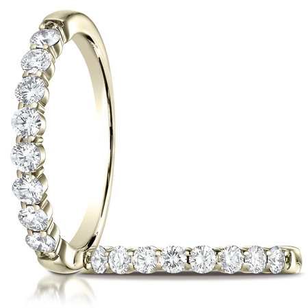 1/2 ct tw Diamond Ring with Shared Prongs - 14kt Yellow Gold