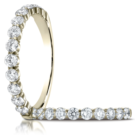 3/4 ct tw Diamond Ring with Shared Prongs - 14kt Yellow Gold