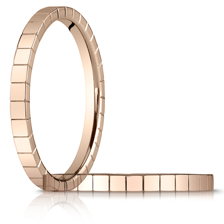 2mm Wedding Band with Squares - 18k Rose Gold