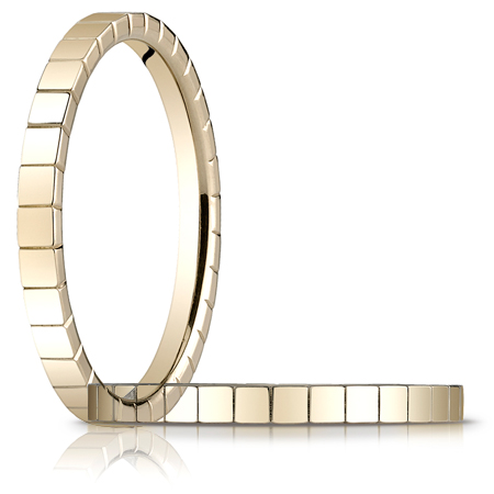 14kt Yellow Gold 2mm Wedding Band with Squares